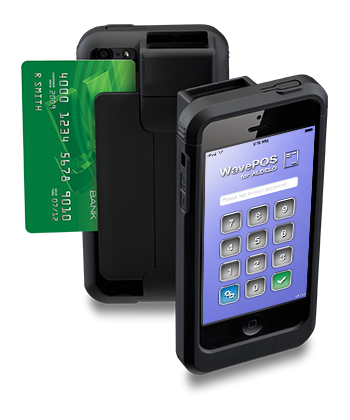 wavePOS application on iPhone with credit card payment processor